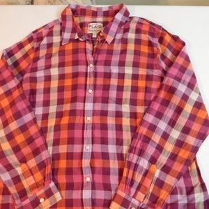Old Navy Size XL Pre-owned Cotton Plaid Shirt